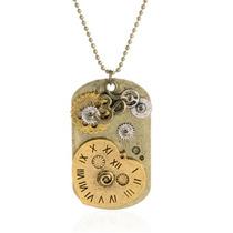 Collar Vintage Novia Mujer Moda Steampunk Reloj Corazón Amor