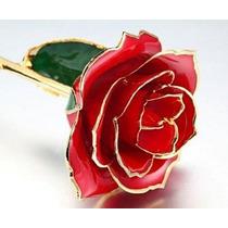Rosa Natural Baño Oro 24k Regalo Amor Amistad Envio Gratis