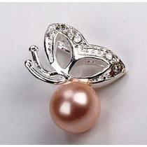 Dije- Mariposa Plata .925-perla Rosa-cristales -flete Gratis
