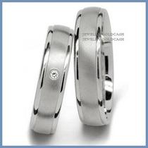 Argollas Matrimoniales Mod. Young En Oro Blanco 10k Solido