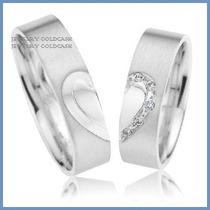 Argollas Matrimoniales Mod. Hope En Oro Blanco 14k Solido