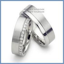 Argollas De Matrimonio Mod. Minerva En Oro Blanco 10k Solido