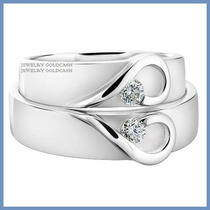 Argollas Matrimoniales Mod. Isabelle Oro Blanco 10k Solido