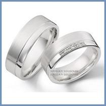 Argollas De Matrimonio Mod. Athena En Oro Blanco 14k Solido