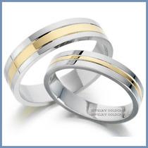 Argollas De Matrimonio Mod. Pendragon Oro Blanco 10k Solido
