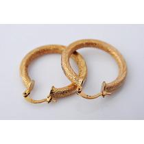Aretes Oro Laminado 10k 29 Milímetros De Diámetro 7.3 Gramos