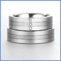 Argollas Matrimoniales Mod. Montblanc Oro Blanco 10k Solido