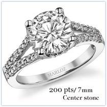 Anillo Con Diamantes 2.00 Ct Corte Redondo Y Oro 14k -40%