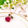 Cadena Y Dije Flor-tulipan-esmaltado-cristales-flete Gratis