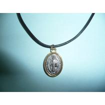 Moderno Dije Medalla Metalica De San Benito Chica