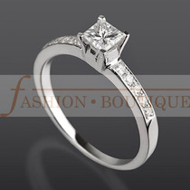 Anillo Compromiso Diamante Natural .60 Ct Color G Purezavs1