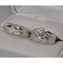 Set Anillos Matrimoniales De Plata Ley .925 Varios Modelos