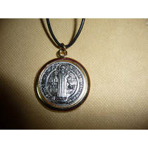 Moderno Dije Medalla Metalico De San Benito