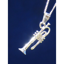Dije Instrumentos Musicales Trompeta Saxfon En Plata Ley.925