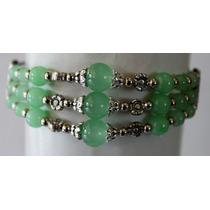 Pulsera-plata Hindu-jade Verde- Flete Gratis