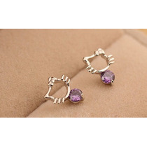 Aretes Swarovski Elements Hello Kitty Plata 925