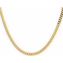 Cadena Barbada De Oro Macizo 10k 50cm. Pesa 20grs Solid Gold