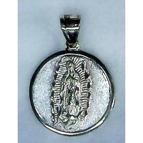 Medalla De La Virgen De Guadalupe Y Cristo De Plata .925