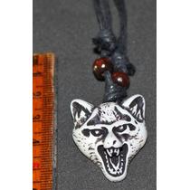 Collar Y Dije- Lobo-perro--flete Gratis