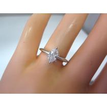 Anillo Compromiso Oro 14k Kilates Diamante Marquesa~.70ct