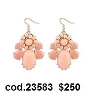 Aretes Color Rosa Bisutería Accesorios Joyeria