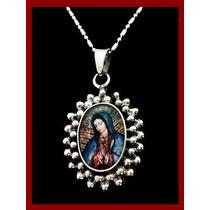 Medalla De La Virgen De Guadalupe En Plata Ley .925
