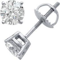 Broquel Para Hombre 1.00 Carats Diamante De Grafito Oro 14k