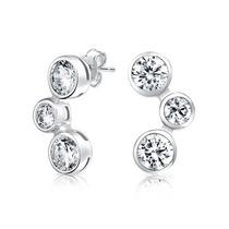 Aretes Burbuja Estoperol Plata Ley Cz Bling Jewelry