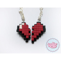 Collar Corazón De Pixel