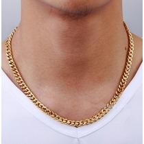 Collar Cadena Hombre Pareja Lover Novio Oro 18k Regalo Plata