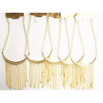 Lote 6 Collar Dorado $15 Bisuteria Mayoreo Accesorios C089