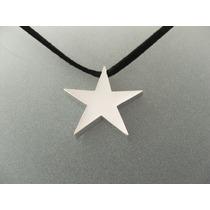 Dije De Estrella Cartoneada Grande En Plata Ley