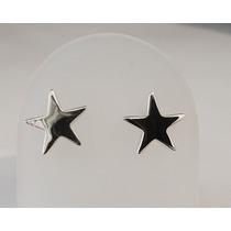 Aretes De Estrella Cartoneada En Plata Ley 0.925