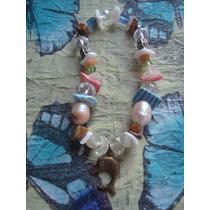Pulsera Vintage Piedras Semipreciosas, Dije Delfín