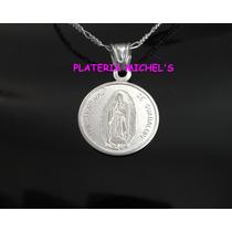 Medalla De La Virgen De Guadalupe En Plata Fina 0.999