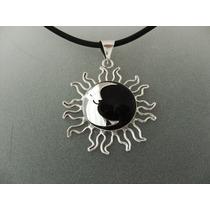 Eclipse De Obsidiana Grande En Plata Ley 0.925
