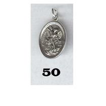 Medalla De San Miguel Arcangel En Plata Ley 0.925