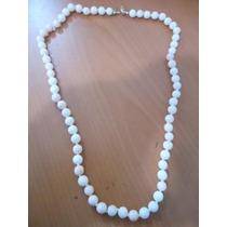 Collar De Coral Rosa Y Blanco Con Broche Oro 14 Kilates