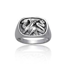 Bling Jewelry Para Hombre Esterlina Oxidado Dragón Anillo A
