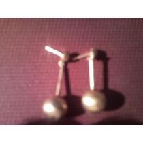 Cambio Aretes O Pendientes Esferas Oro 18 Kt Solido 3.6 Gms