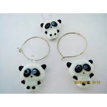 Aretes,cadena-dije Oso Panda-cerrando 1 Ojo-flete Gratis