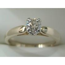 Anillo De Compromiso 14kt Con Diamante Natural .50ct G Vvs1