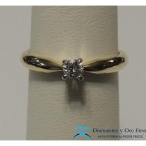 Anillo De Compromiso Solitario Extravagante .17 Ct Diamante