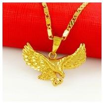Cadena Y Dije Aguila-ave-chapa Oro 24 K. Flete Gratis