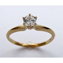 Anillo Compromiso Oro 14k Diamante Estuche Replica Plata