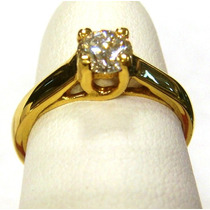 Anillo De Compromiso Diamante 100% Natural 0.50cts. Vs-1 G