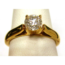 Precioso Anillo De Compromiso Diamante 100% Natural 0.51cts.