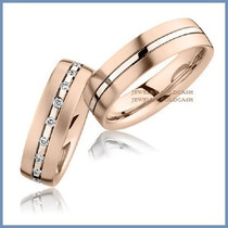 Argollas De Matrimonio Mod. Lavoissier Oro Rosa 14k Solido