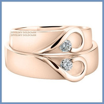 Argollas De Matrimonio Mod. Isabelle Oro Rosa 14k Solido