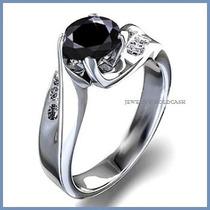 Anillo Compromiso Diamante Natural Negro Plata Oro -50% 001